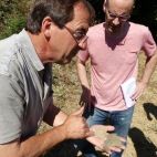 Salvador explains the importance of Llicorella to Priorat wines