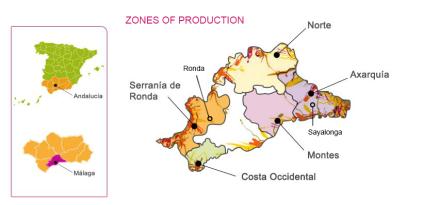 Málaga and Sierras de Málaga production zones