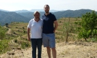 René Barbier III and Yours Truly in the Clos Mogador vineyard