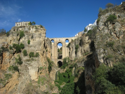 Ronda Gorge with Parador de Ronda on left